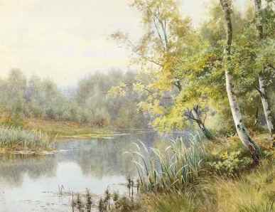 walter_follen_bishop_silver_birchs_on_a_wooded_river_bank_d5409449g
